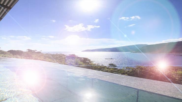 空と海と湯舟が一体に見える眺望抜群の露天風呂