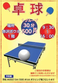 暑い夏は卓球で遊ぼう